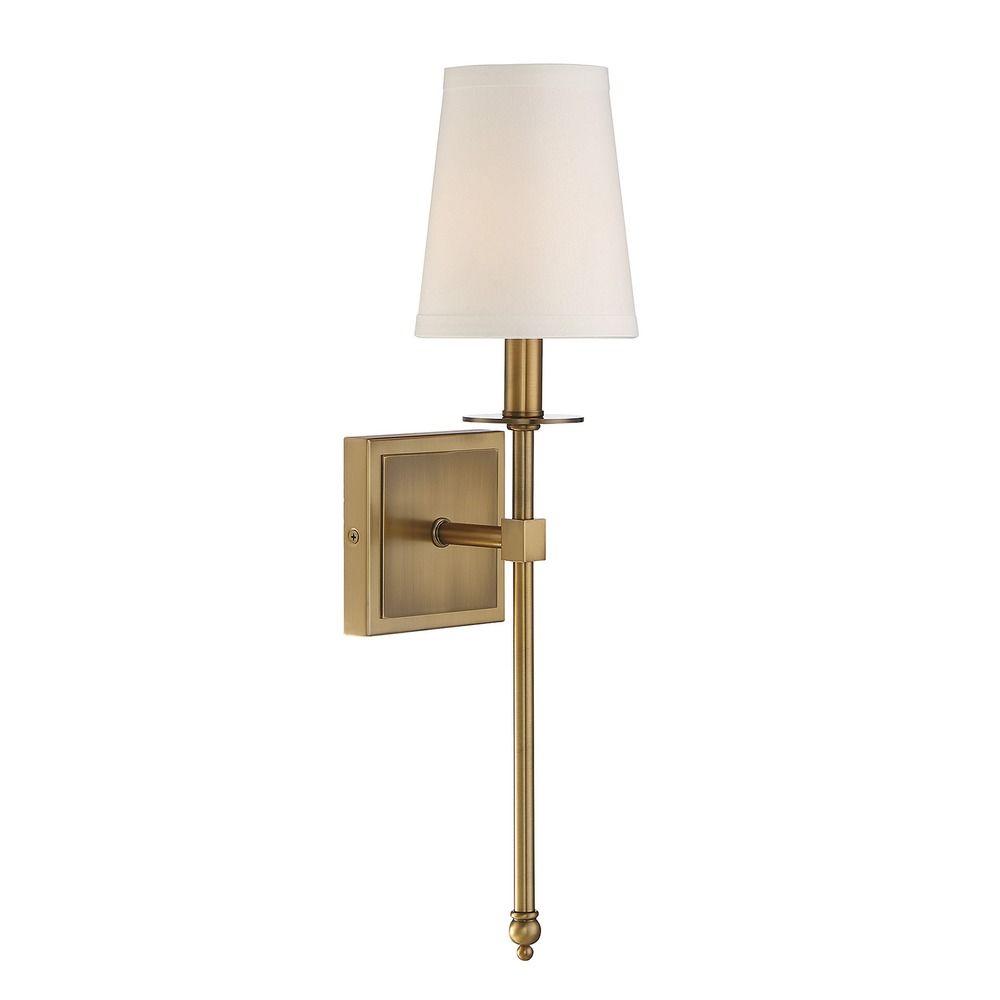 Savoy house lighting monroe warm brass sconce 9 302 1 for Savoy house