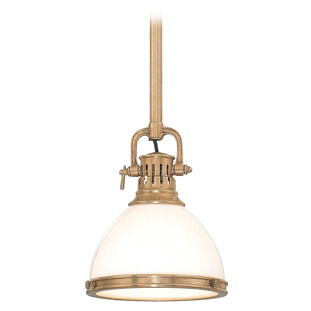 Pendant light with white glass in aged brass finish 2623 agb hover or click to zoom aloadofball Image collections