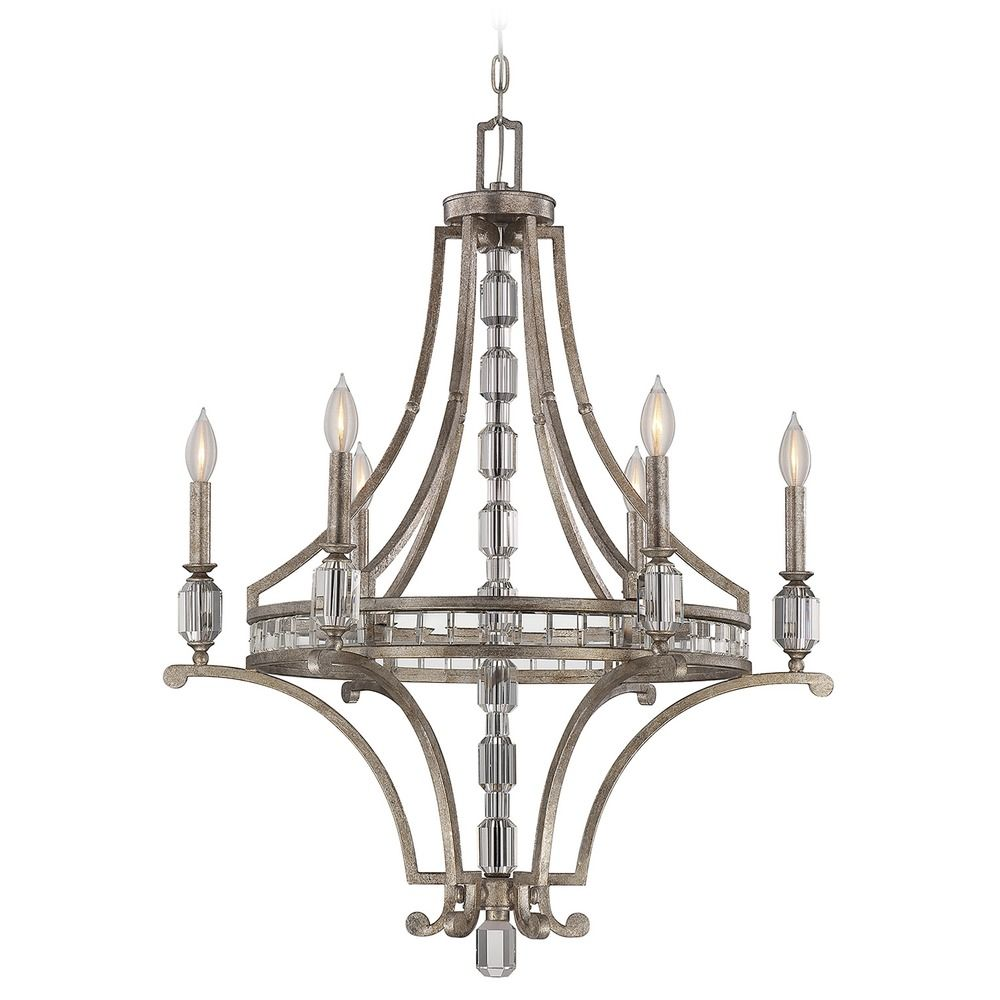 Savoy House Silver Dust Crystal Chandelier