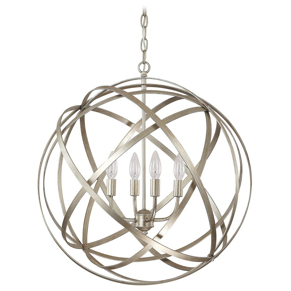 Winter Gold Vanity Lights : Capital Lighting Winter Gold Pendant Light 4234WG Destination Lighting