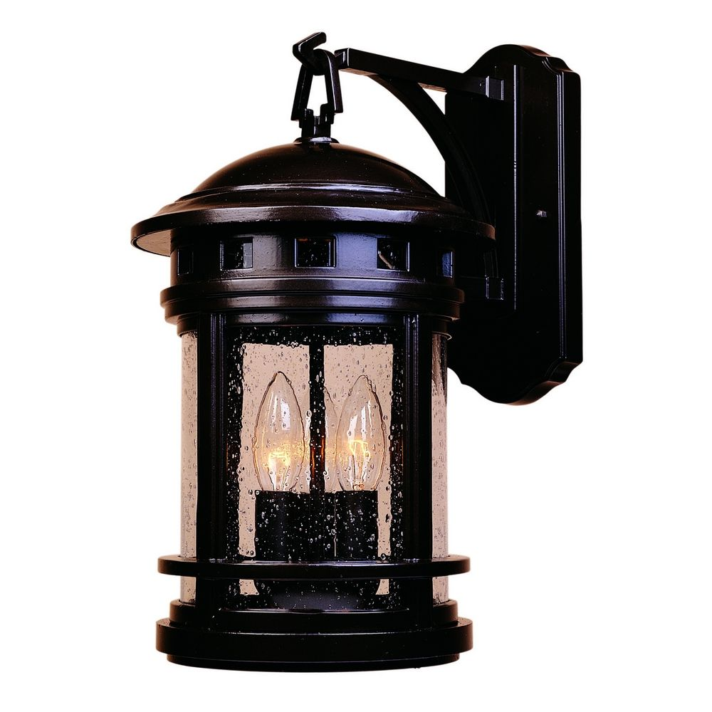 Bronze Glass Wall Lights : Outdoor Wall Light with Clear Glass in Oil Rubbed Bronze Finish 2391-ORB Destination Lighting