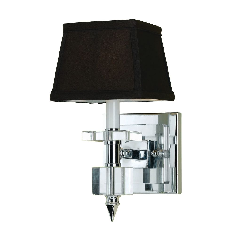 Wall Sconce Chrome Finish : Modern Sconce Wall Light with Brown Shade in Chrome Finish 6762-1W Destination Lighting