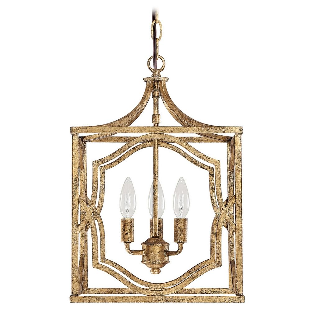 Capital Lighting Antique Gold Pendant Light | 9481AG ...