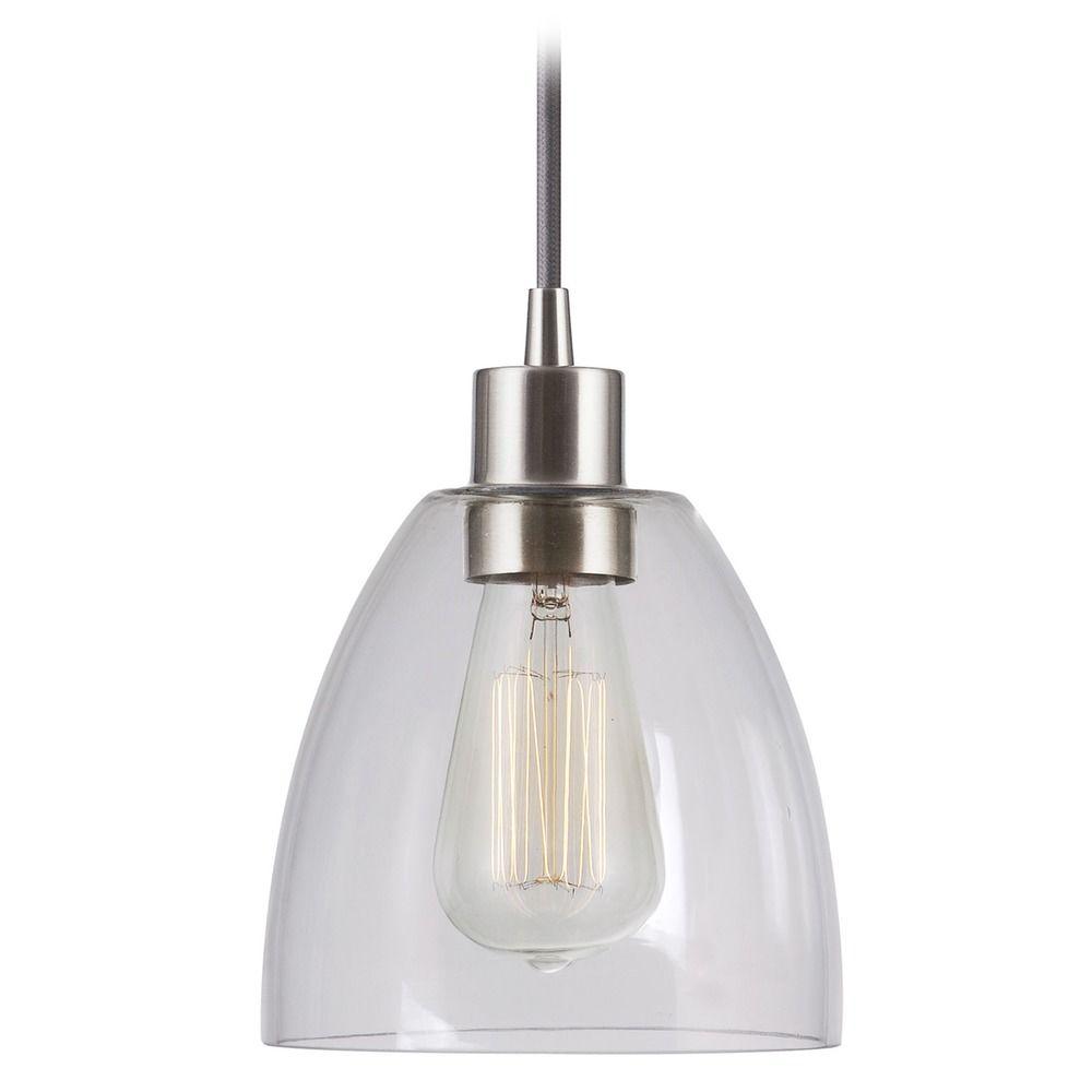 Kenroy home lighting edis brushed steel mini pendant light - Kenay home lamparas ...