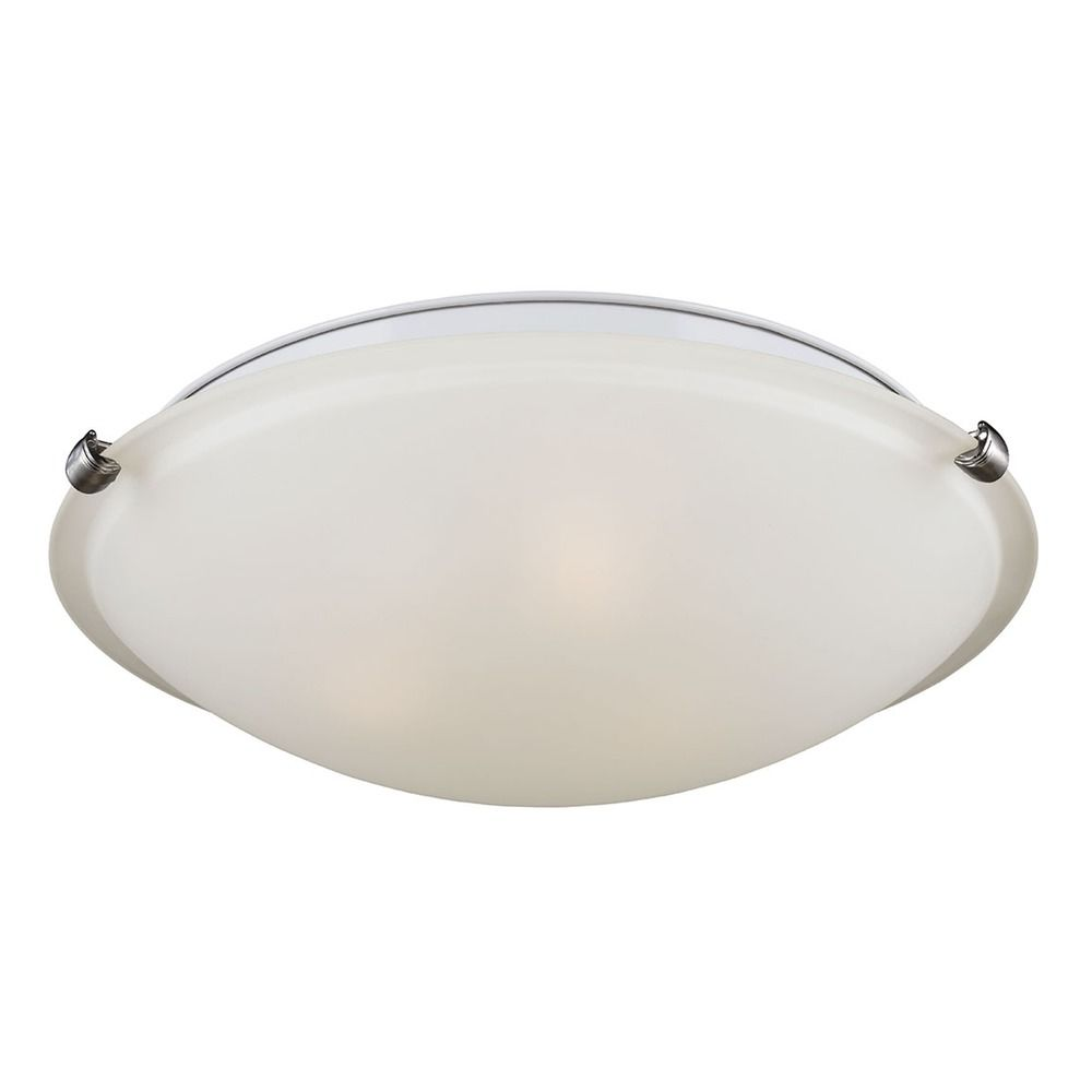 Ceiling Light Covers Clip On : Sea gull lighting clip ceiling flush mount brushed nickel