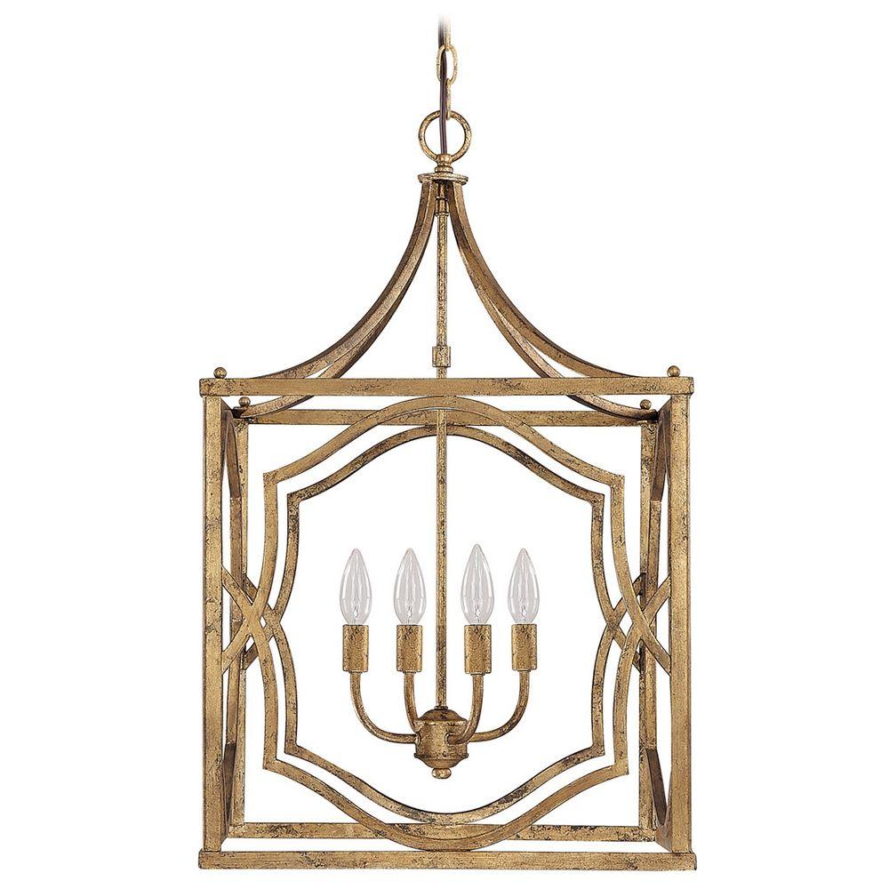 capital lighting antique gold pendant light 9482ag
