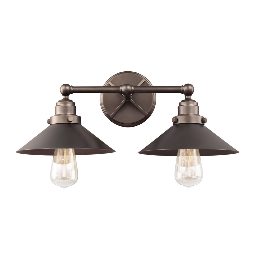 Feiss Lighting Hooper Antique Bronze Bathroom Light Vs23402anbz Destination Lighting