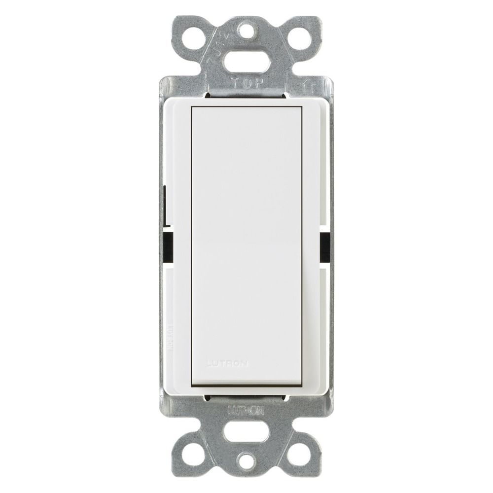 lutron white decora light switch ca 1ps wh destination. Black Bedroom Furniture Sets. Home Design Ideas