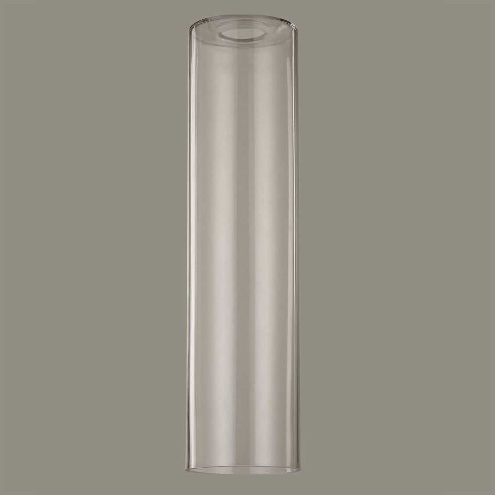 16 Inch Tall Cylinder Clear Glass Shade With 1 5 8 Fitter