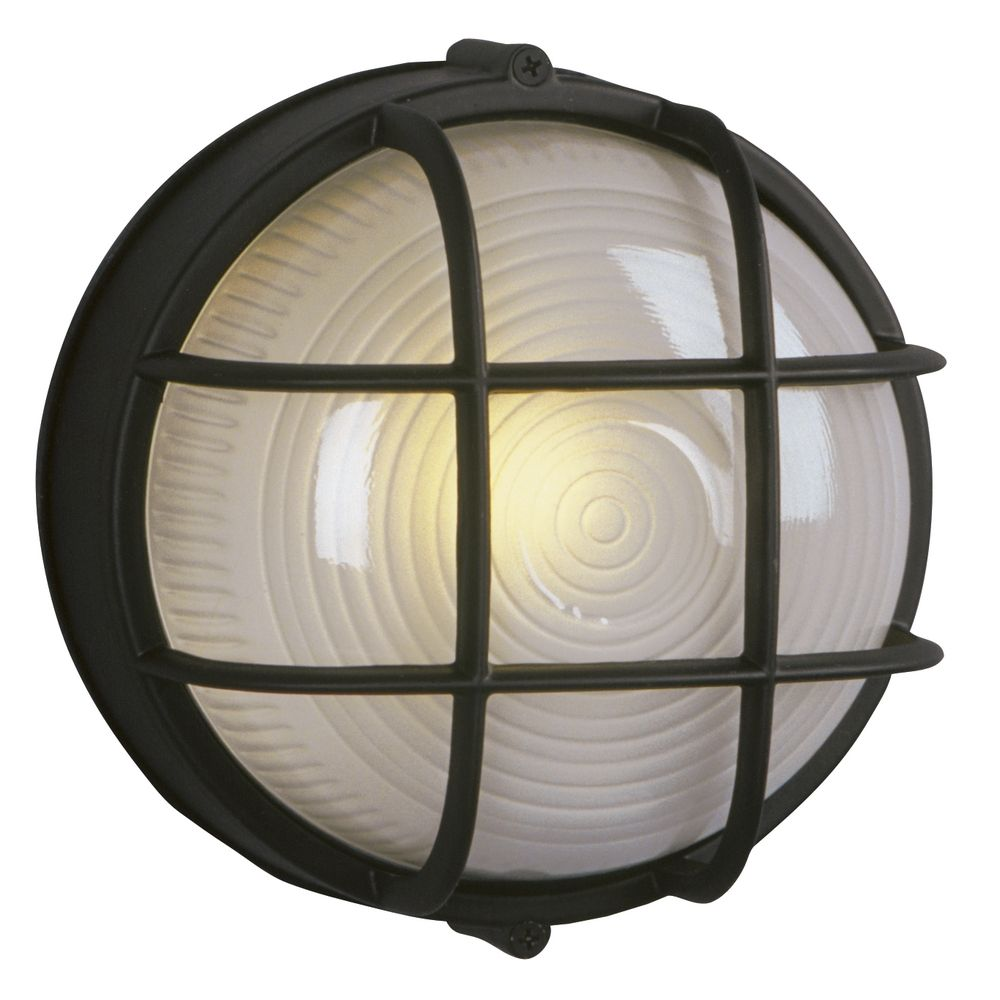 Galaxy Excel Lighting Marine Bulkhead Outdoor Wall Light In Black 305012 Bk