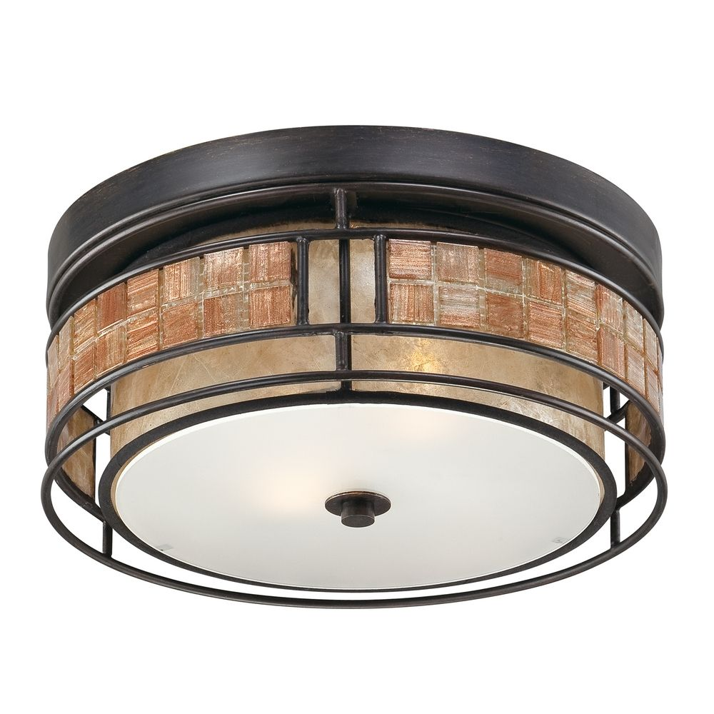 Ceiling Lights In Copper : Close to ceiling light in renaissance copper finish