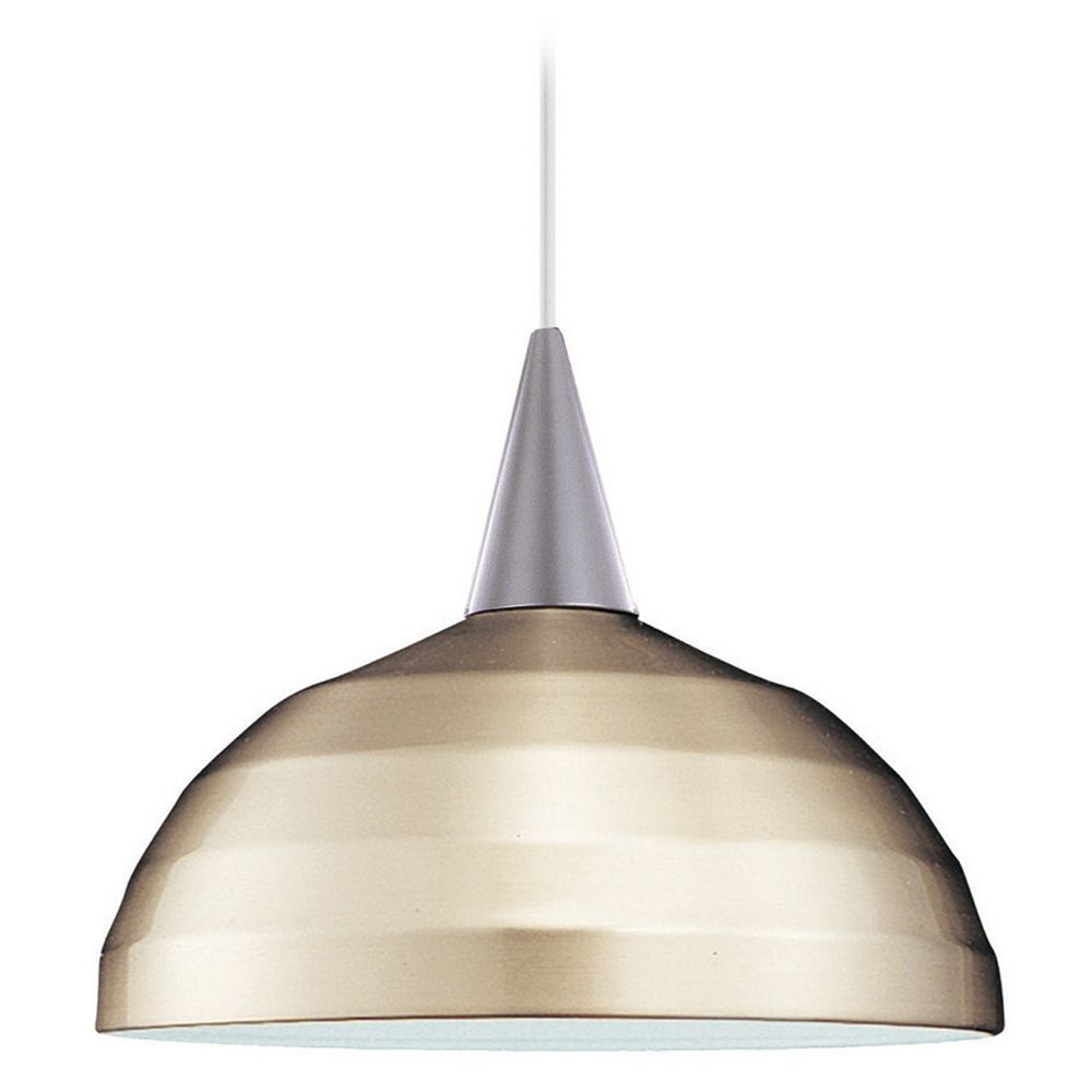 wac lighting wac lighting industrial collection brushed nickel pendant