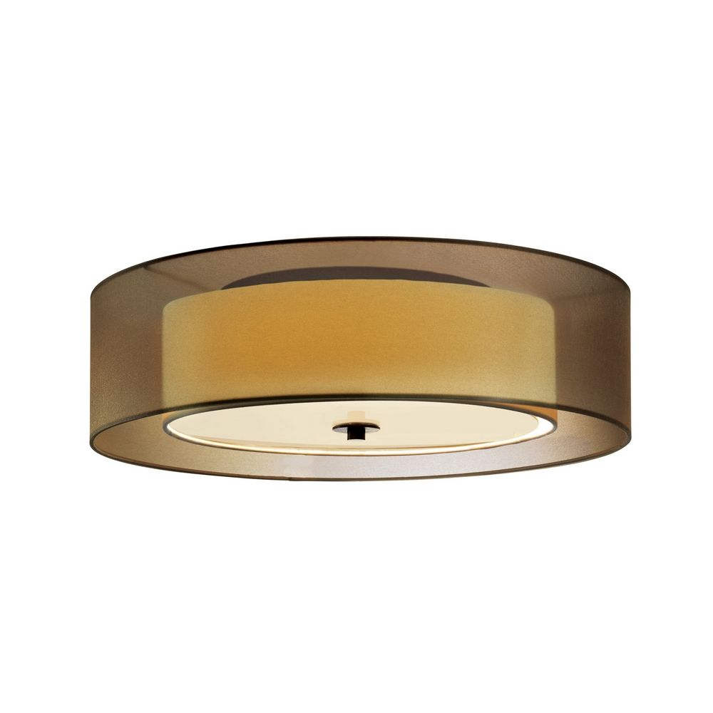 Sonneman lighting modern flushmount light with brown shades in black brass finish 6013 51f hover or click to zoom