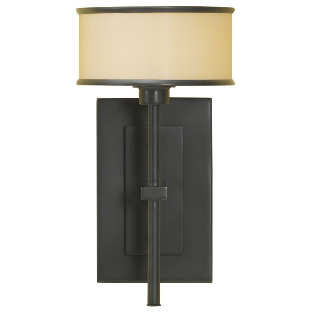Sconce Wall Light with Brown Shade in Dark Bronze Finish WB1378DBZ Destination Lighting