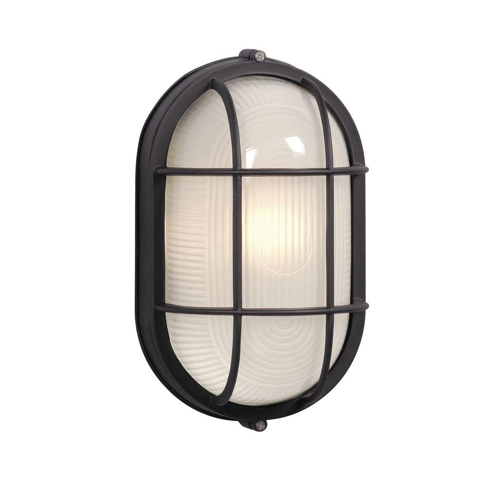 Oval Marine Bulkhead Light In Black Finish Ex305013bk
