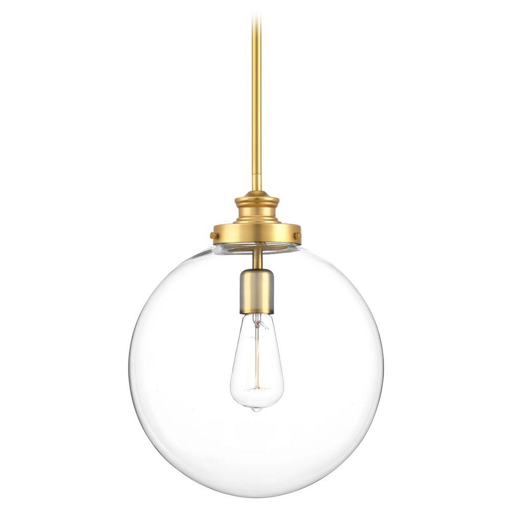 mid century modern pendant light brass penn by progress. Black Bedroom Furniture Sets. Home Design Ideas