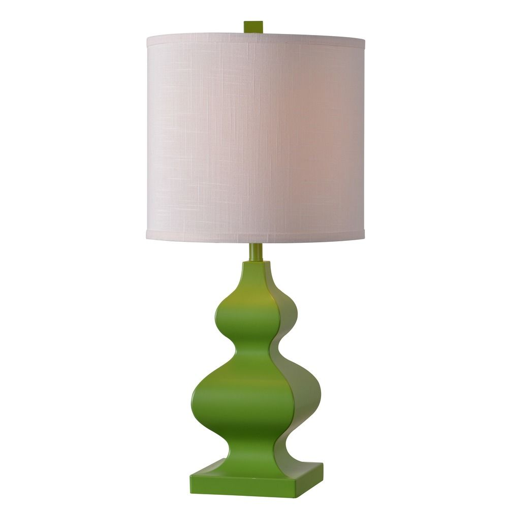 kenroy home lighting kenroy home milton lime green table lamp with. Black Bedroom Furniture Sets. Home Design Ideas