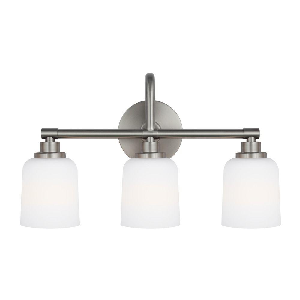 Feiss Lighting Reiser Satin Nickel Bathroom Light Vs23903sn Destination Lighting
