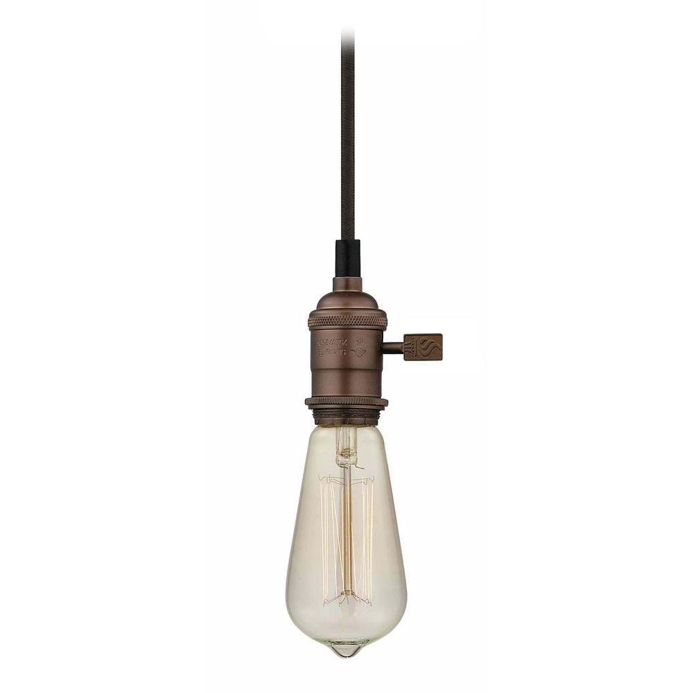 Mini Pendant Light Bronze Cloth Cord