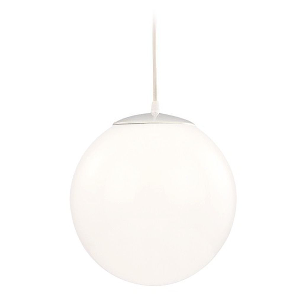 Modern Globe Mini Pendant Light With White Glass