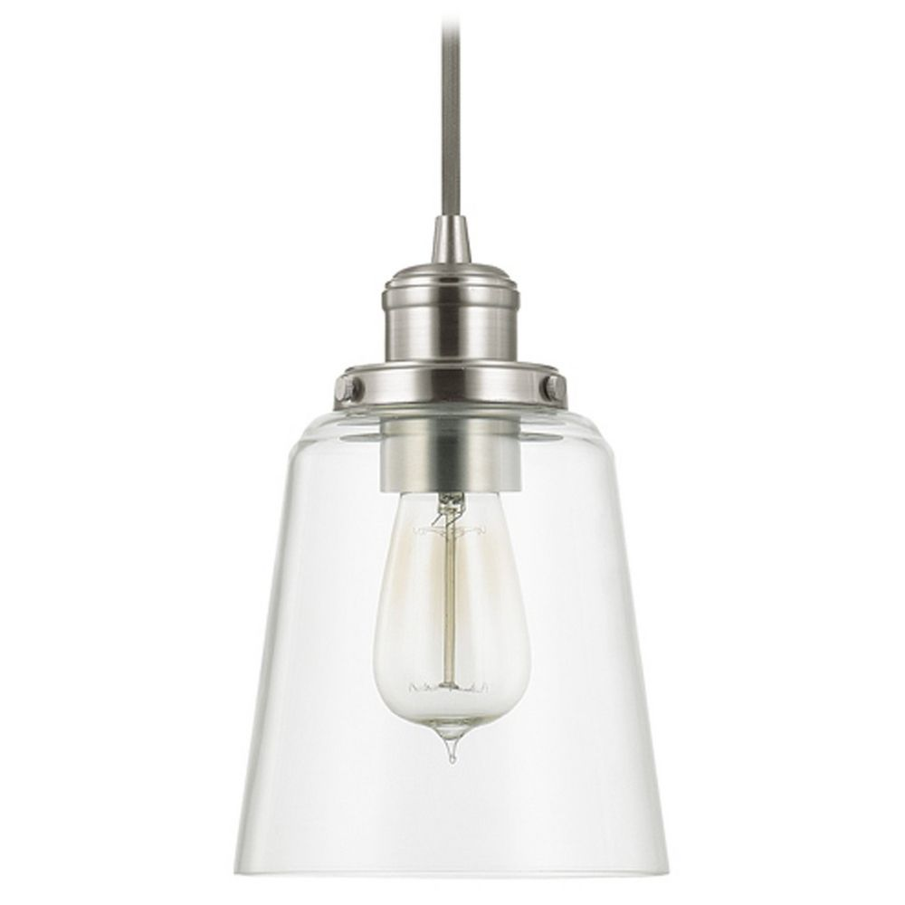 capital lighting capital lighting brushed nickel mini pendant light
