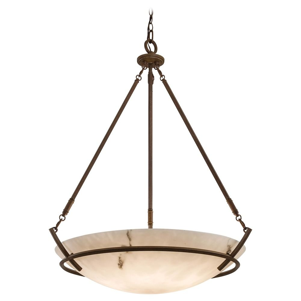 Large Pendant With Alabaster Glass Light 682 14