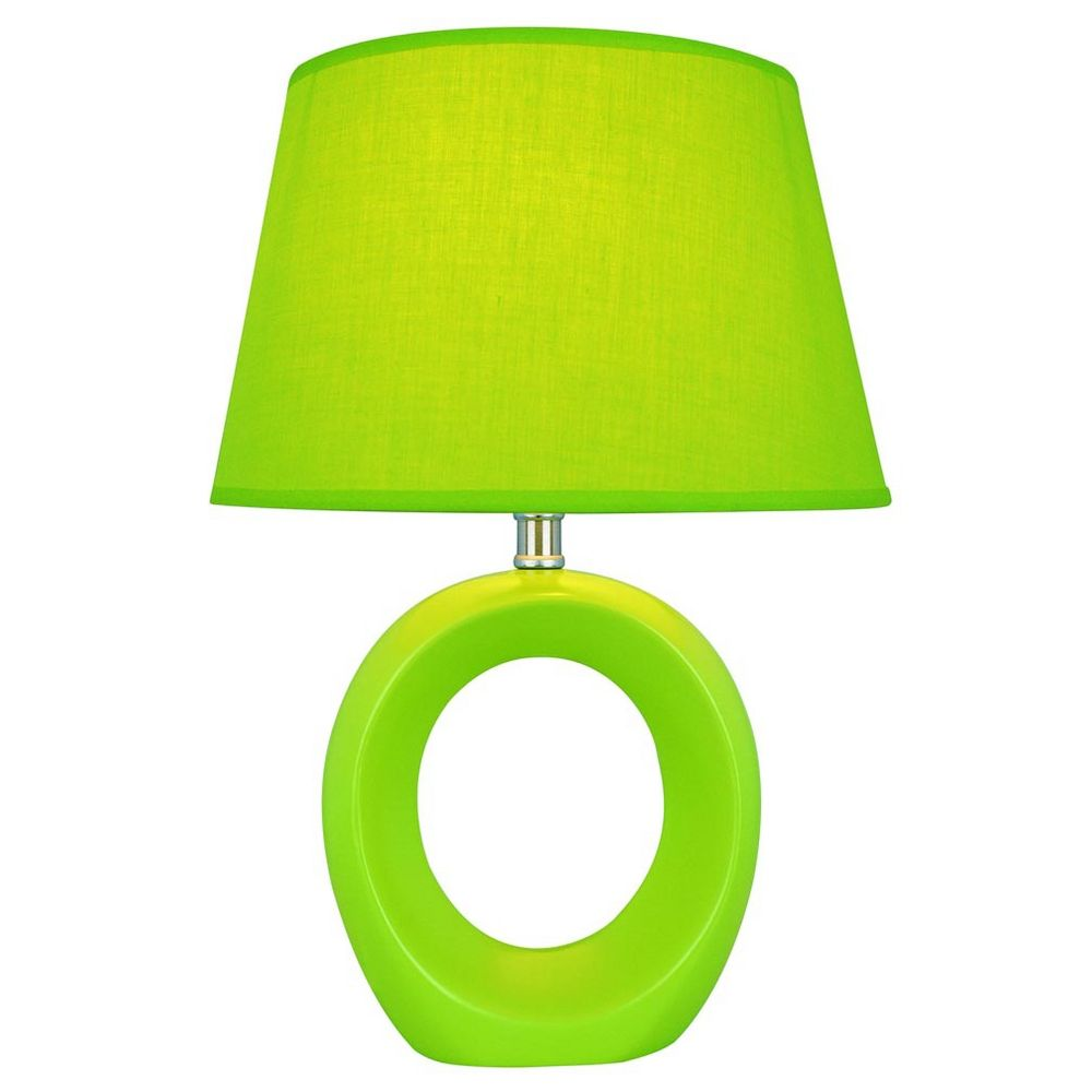 Lite Source Lighting Viko Green Table Lamp With Empire Shade LS 20585GRN