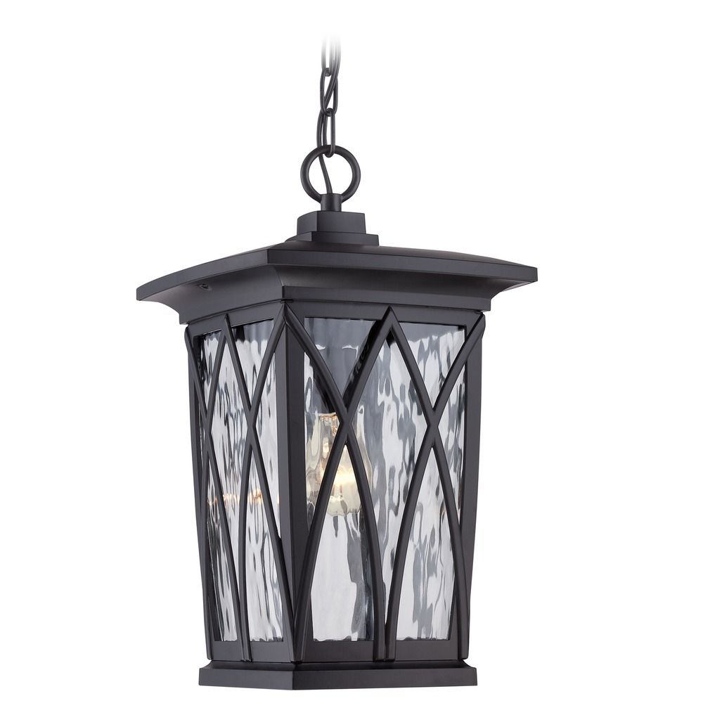 Quoizel Grover Mystic Black Outdoor Hanging Light