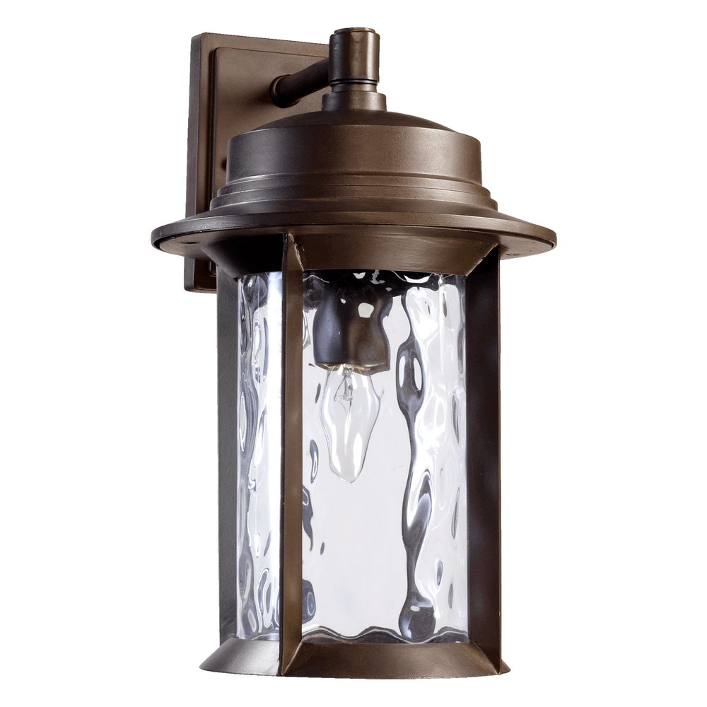 Exterior Lighting: Quorum Lighting Charter Oiled Bronze Outdoor Wall Light