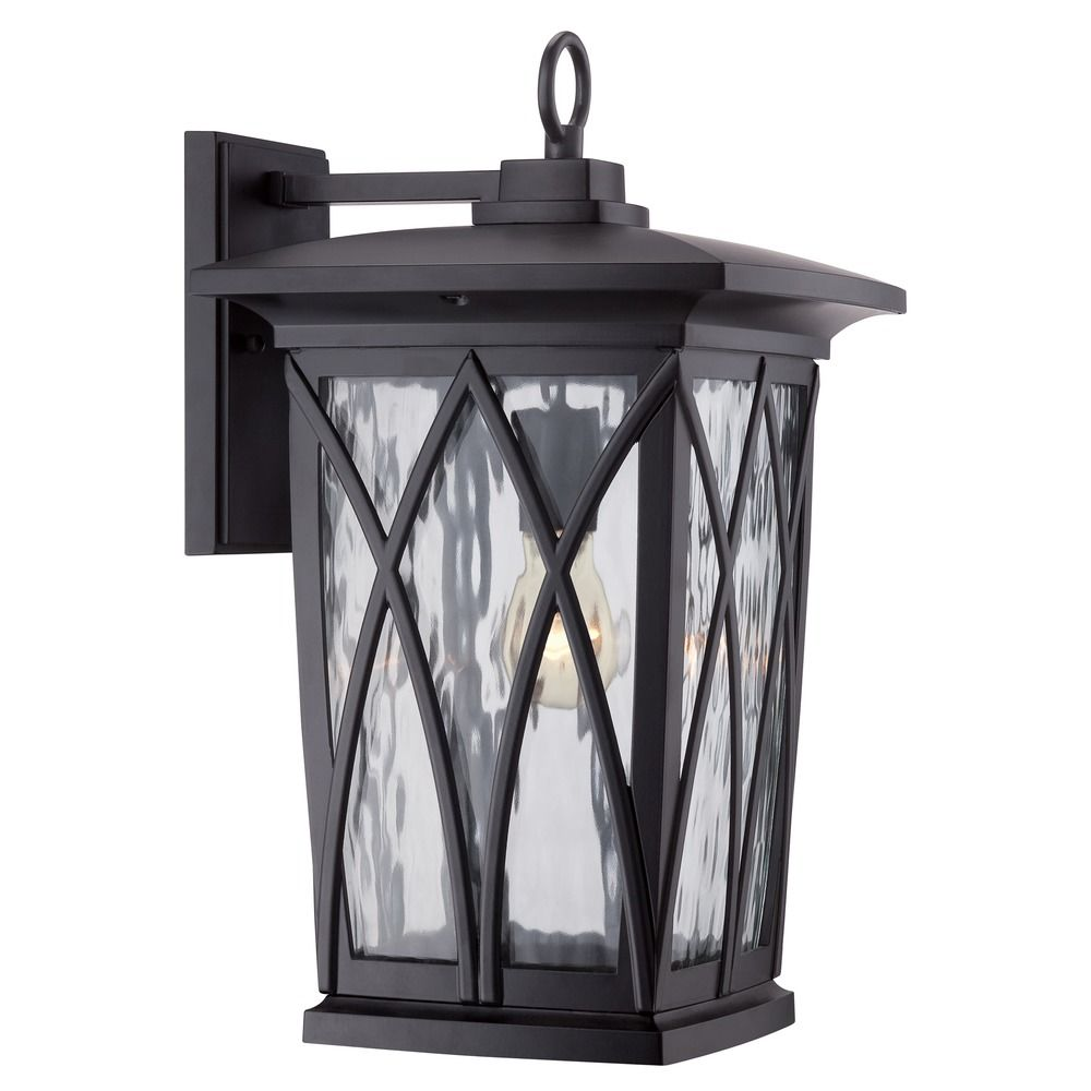 Quoizel Grover Mystic Black Outdoor Wall Light