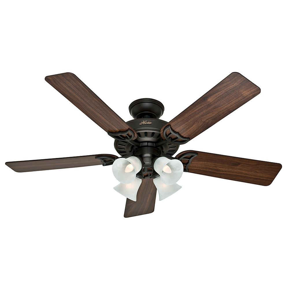 Hunter Ceiling Fans With Lights : Hunter fan company studio series new bronze ceiling