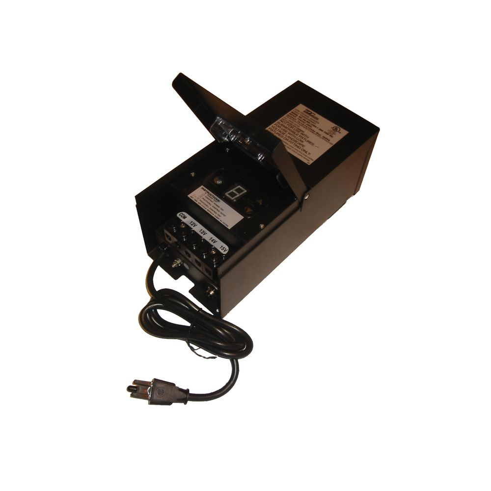 Brass Works Lighting Multi Tap 300Watt Landscape Transformer With Photocell  U0026Duration Timer T300 BK