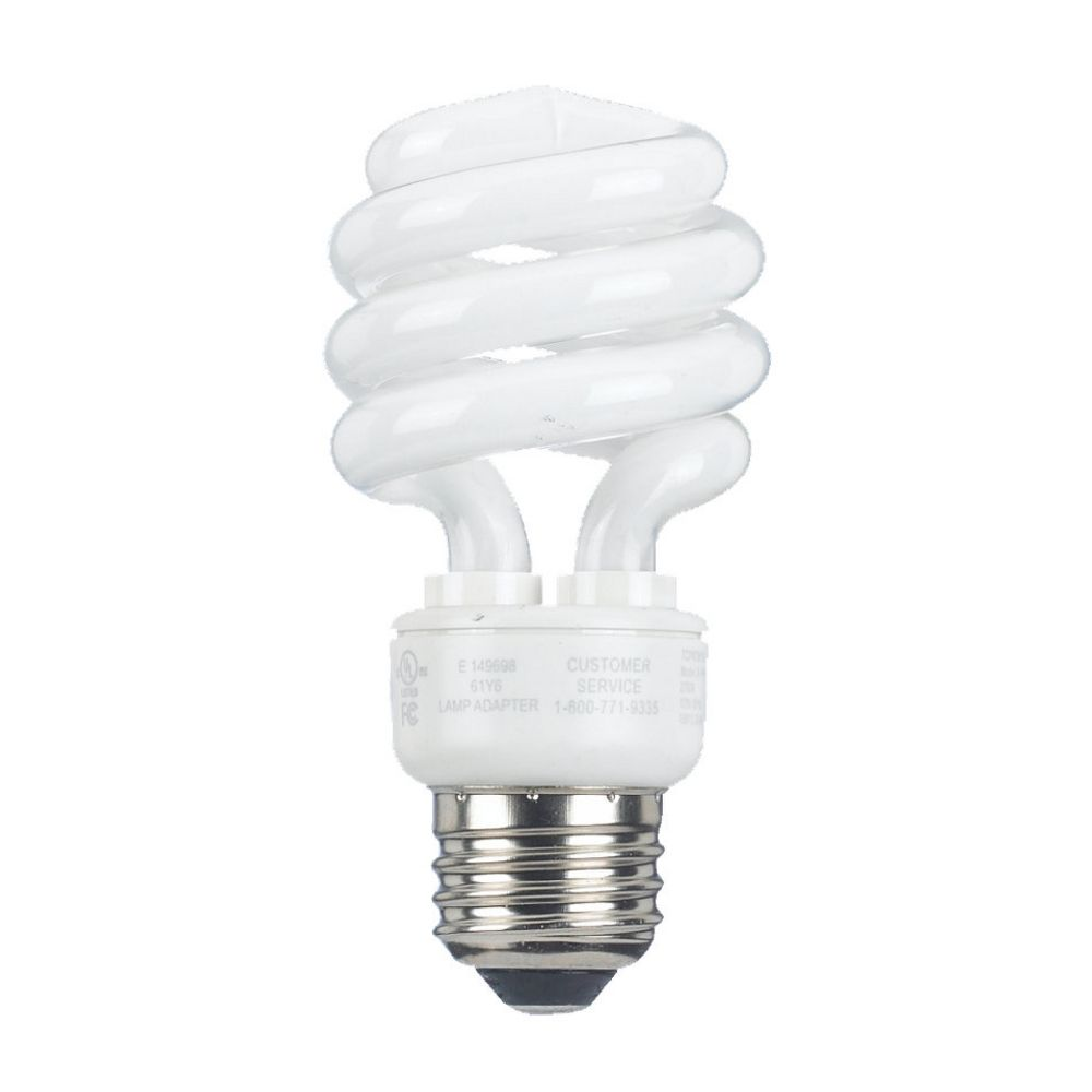 Compact fluorescent light bulb 13 watts 97049 destination lighting Light bulb wattage