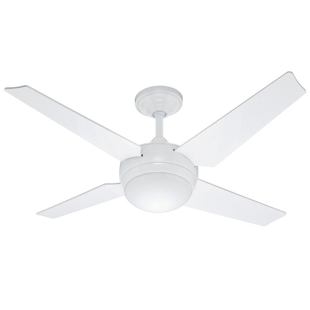 Casablanca Ceiling Fan Light Covers : Casablanca hunter sonic white ceiling fan with light