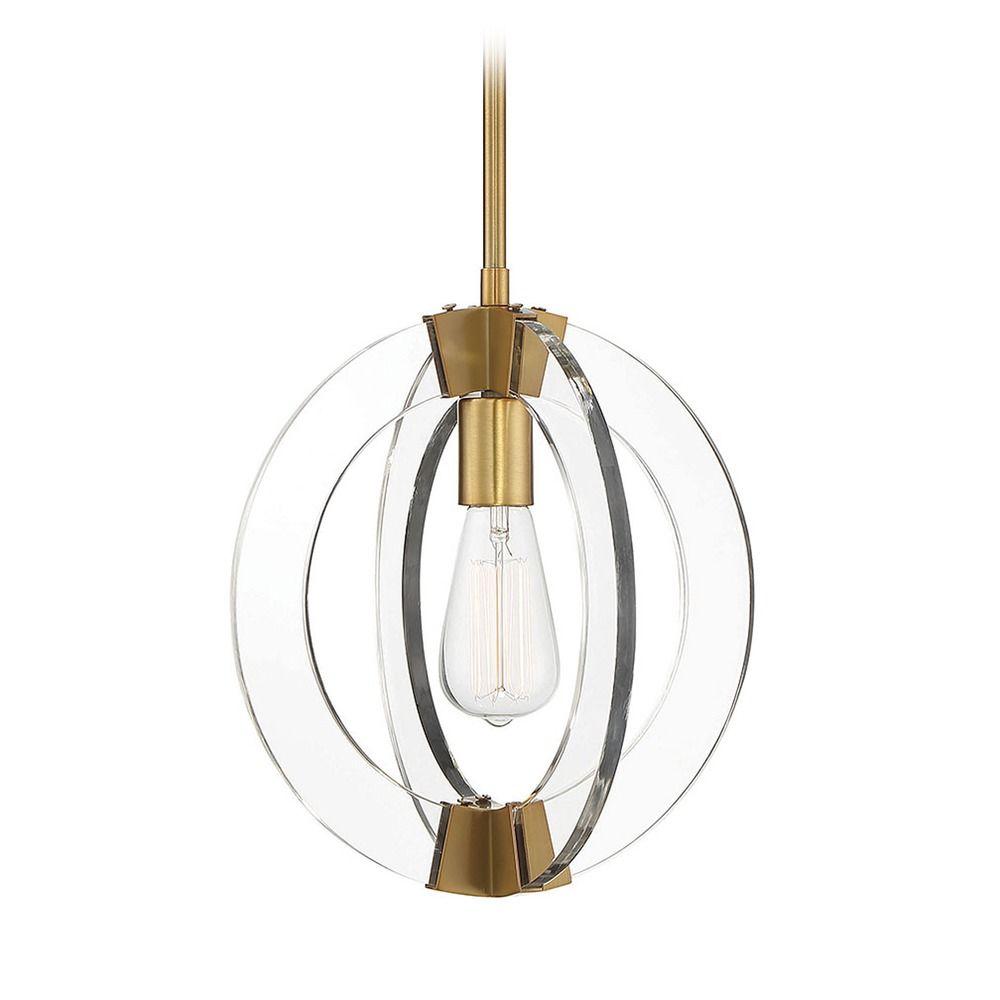 warm brass pendant light epsilon collection by savoy house 7 9160