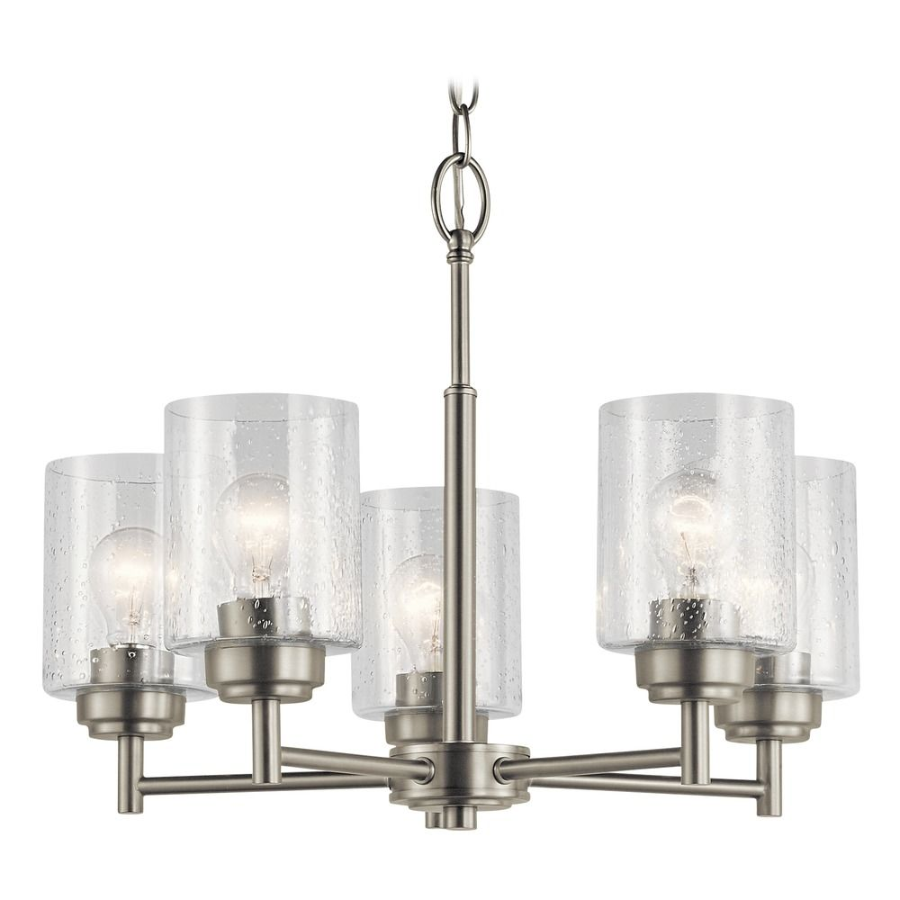 Seeded Gl Mini Chandelier Brushed Nickel Winslow By Kichler Lighting At Destination