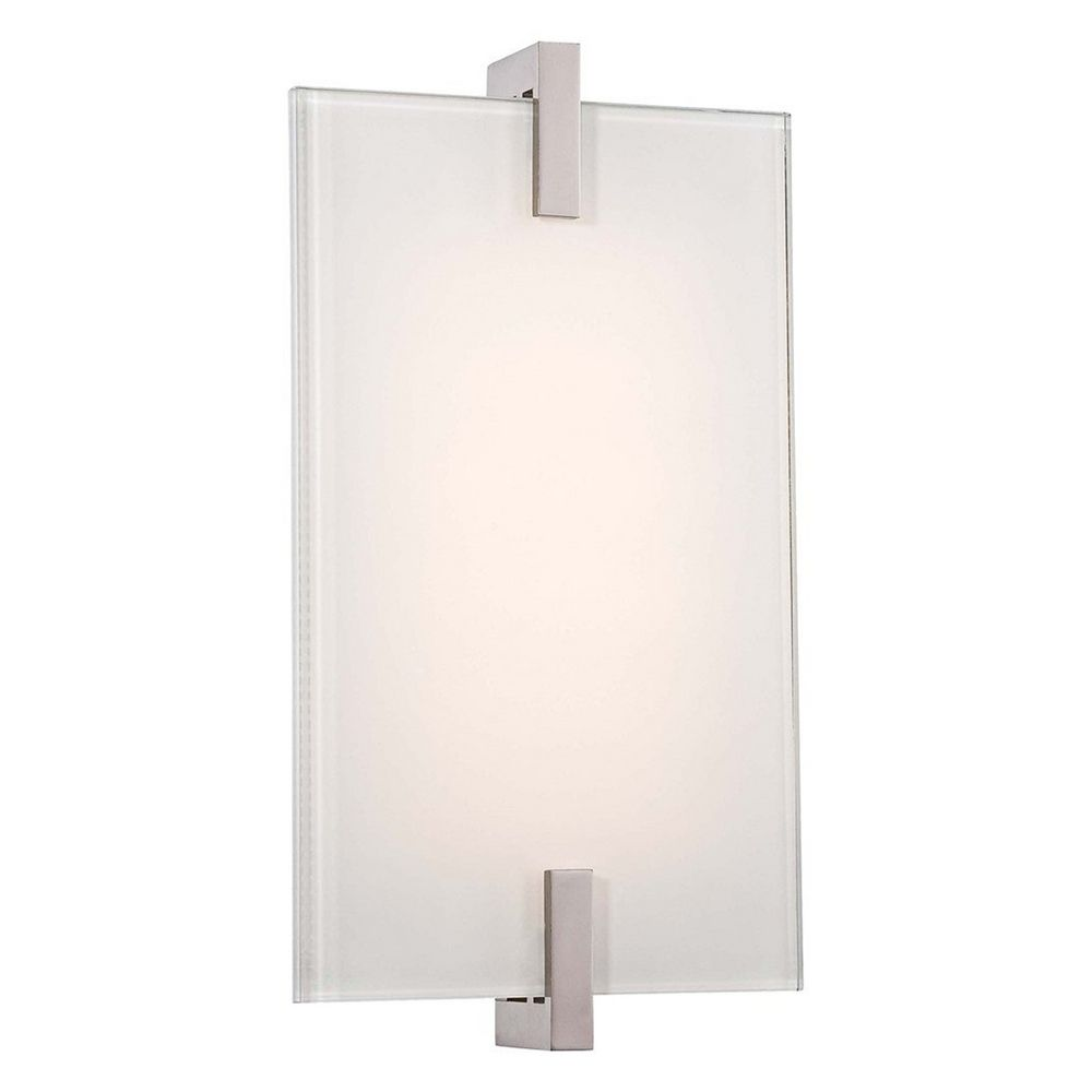 Modern led sconce wall light in polished nickel finish p1110 613 l george kovacs lighting modern led sconce wall light in polished nickel finish p1110 613 aloadofball Images