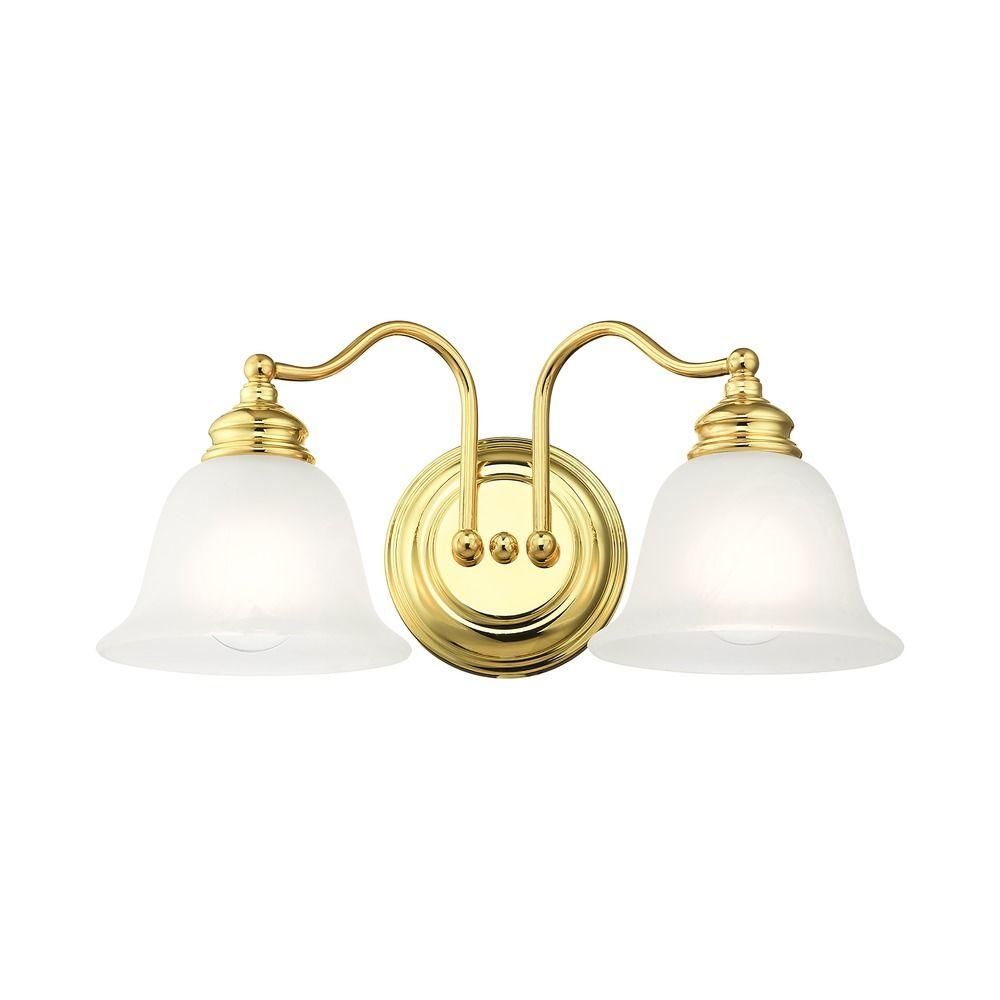 Livex Lighting Essex Polished Brass Bathroom Light 1352 02 Destination Lighting