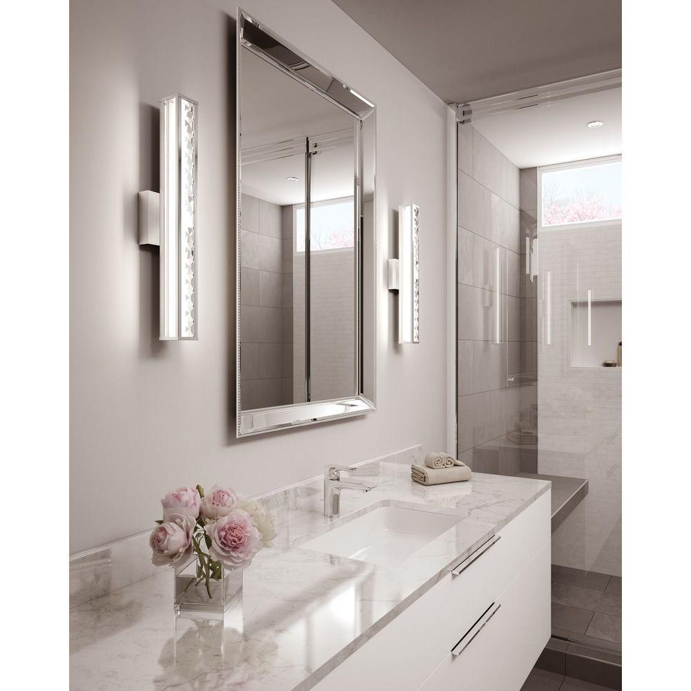 Bathroom Lights Vertical feiss lighting jessie chrome led vertical bathroom light