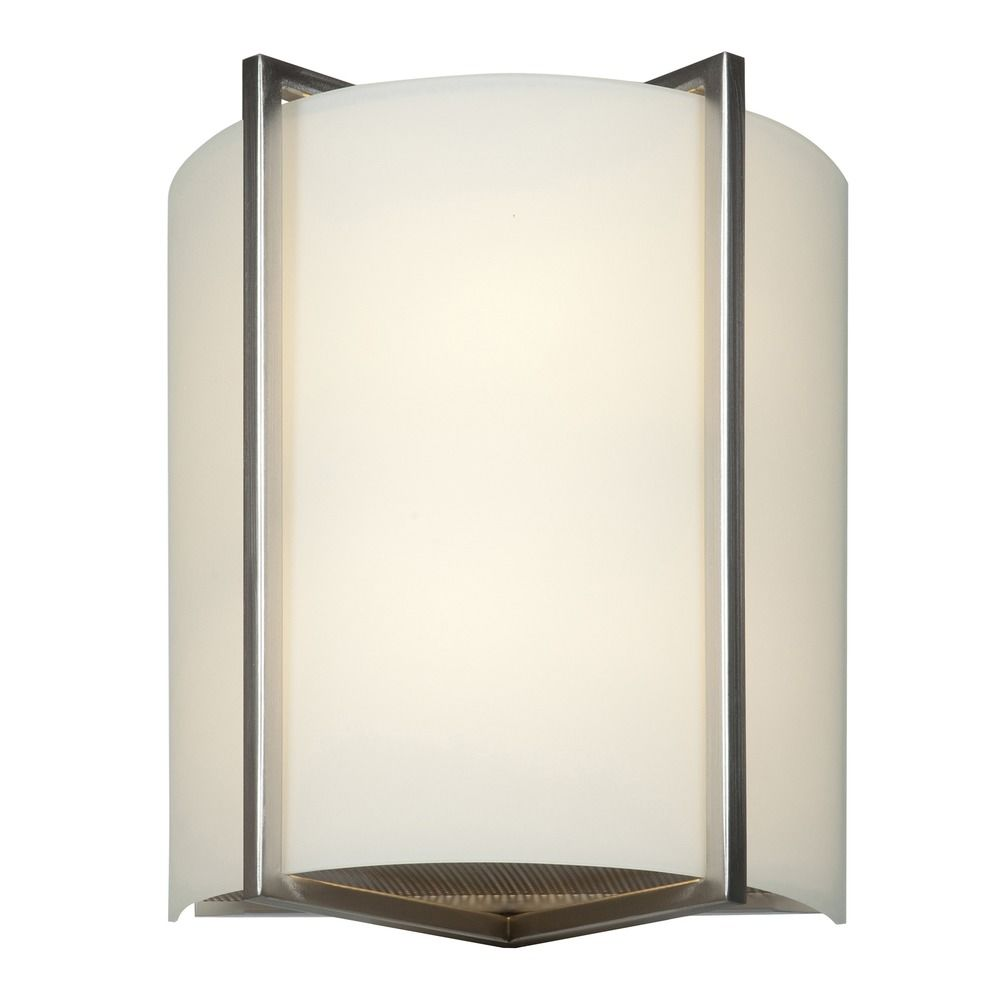 Access Lighting Vector Brushed Steel LED Sconce