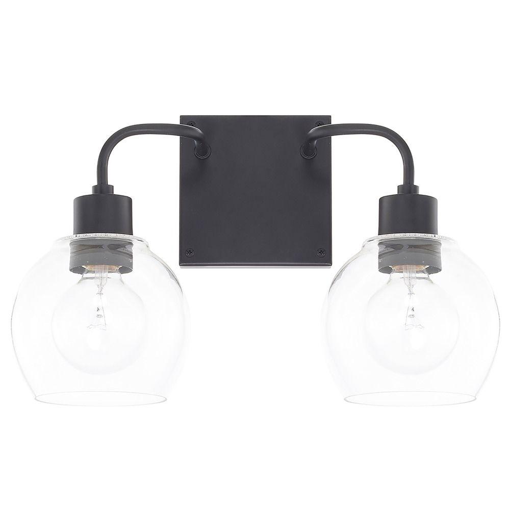 Homeplace By Capital Lighting Tanner Matte Black Bathroom Light 120021mb 426 Destination Lighting