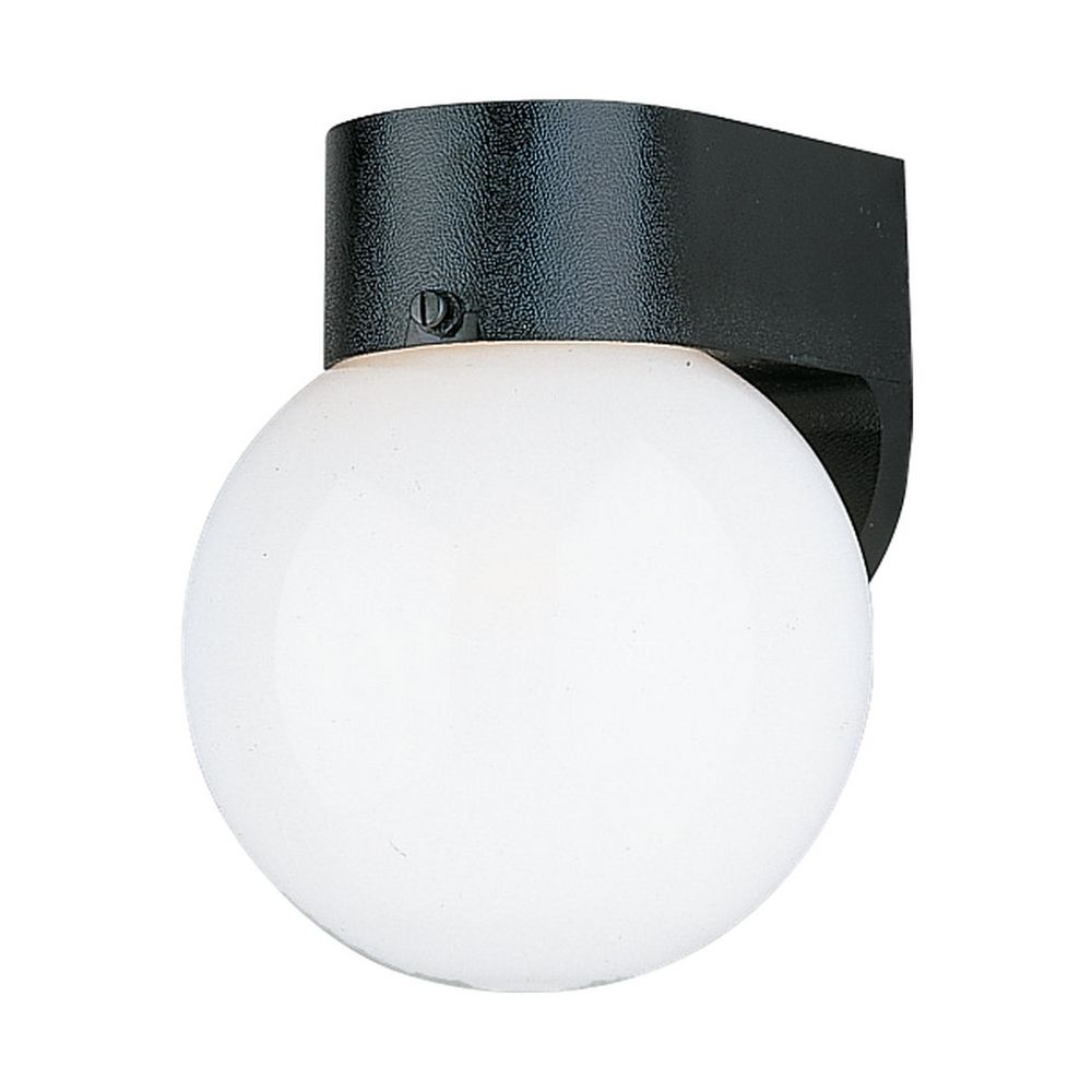 Outdoor Wall Light with White Glass in White Plastic Finish 8753-68 Destination Lighting