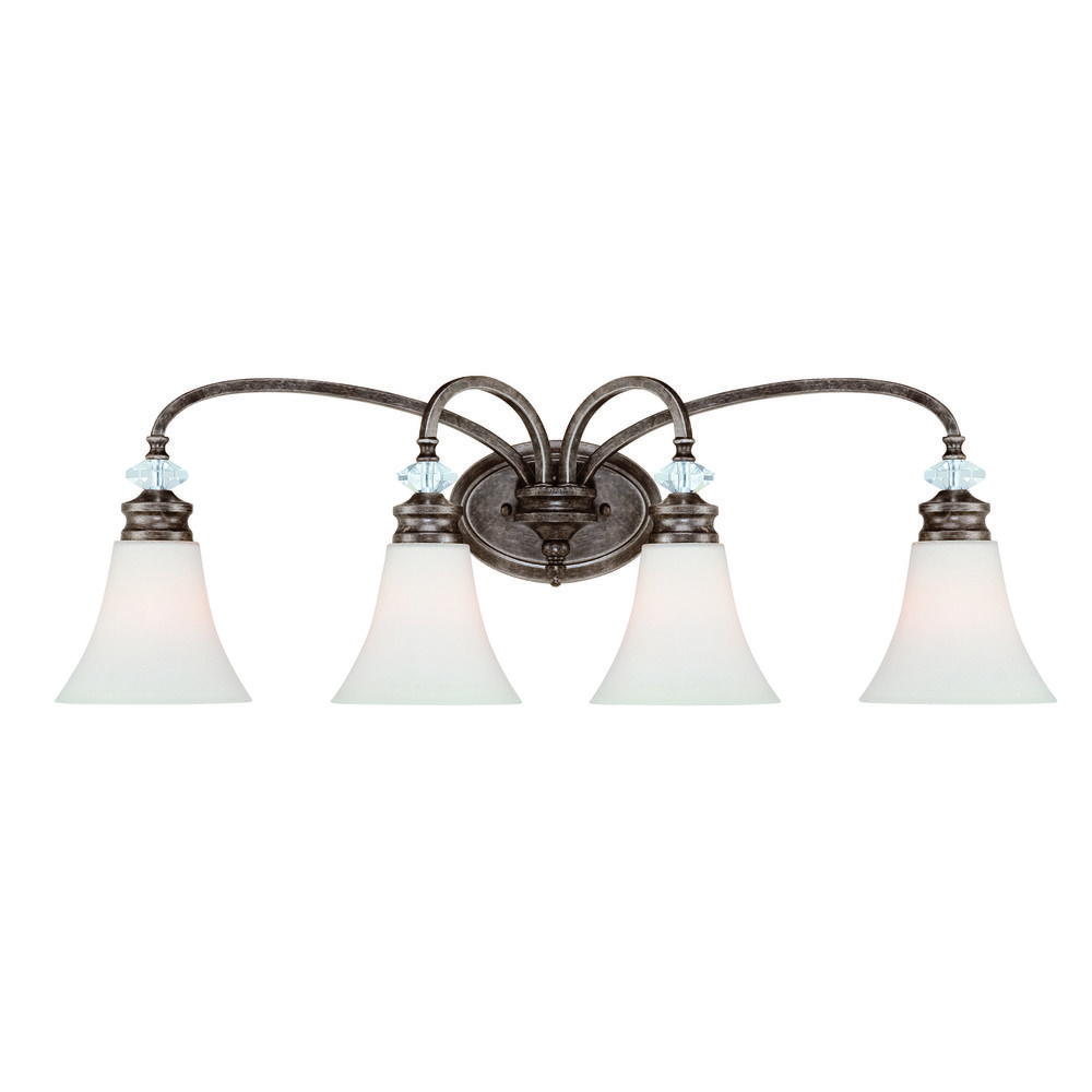 Craftmade boulevard mocha bronze silver accents bathroom for Bronze and silver bathroom accessories