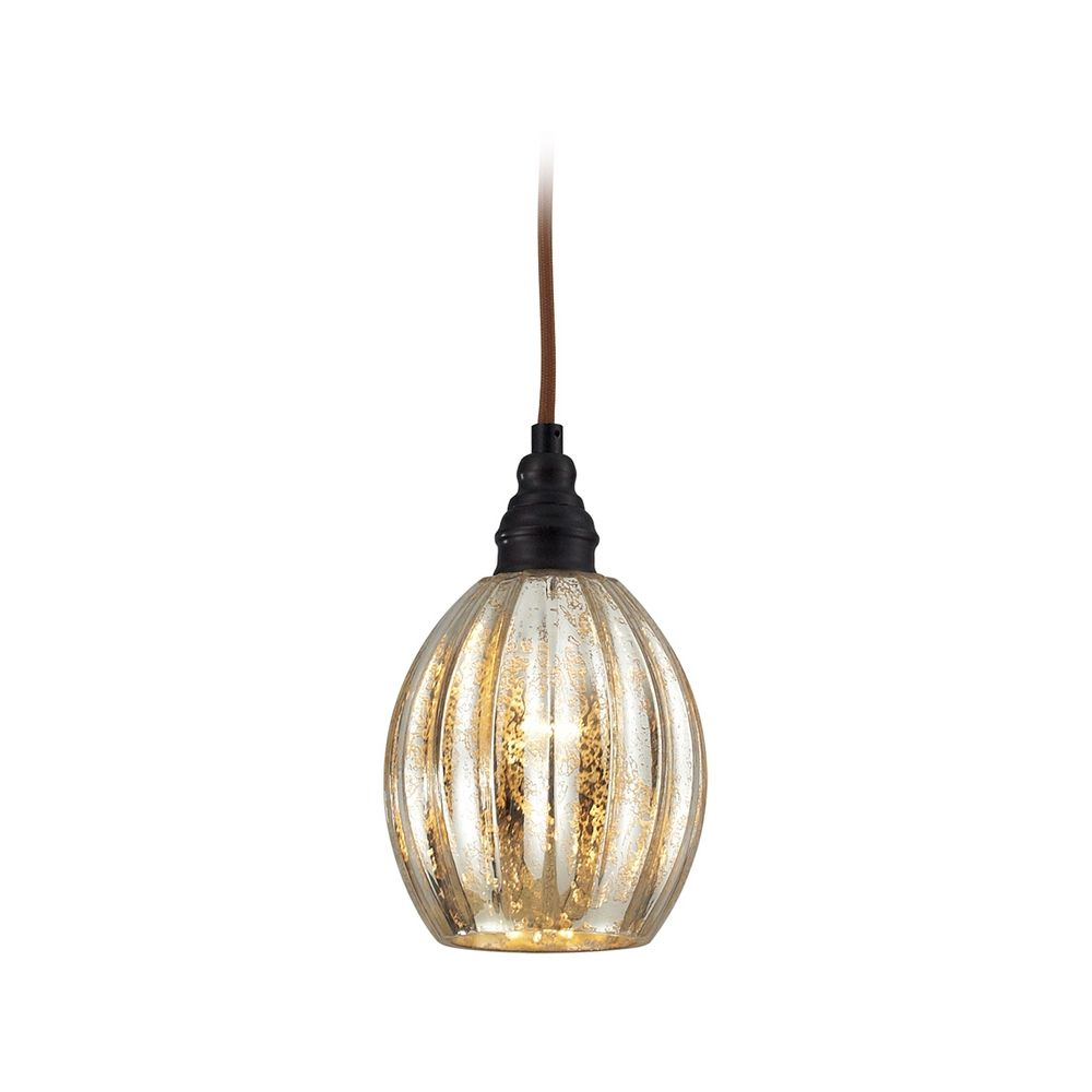 Mini-Pendant Light with Mercury Glass  46007/1  Destination Lighting