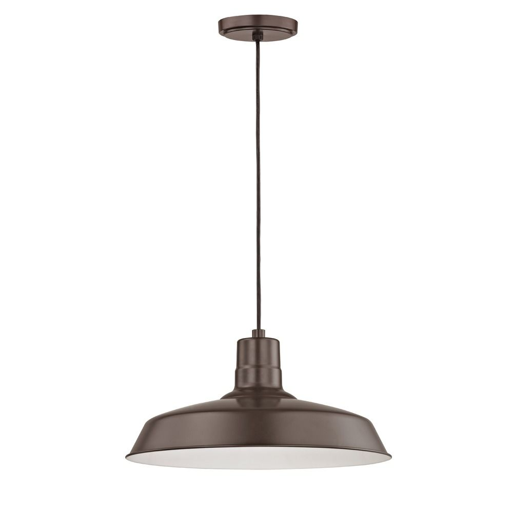 Barn light cord hung pendant light bronze with 16 inch shade bl barn light cord hung pendant light bronze with 16 inch shade alt1 arubaitofo Image collections