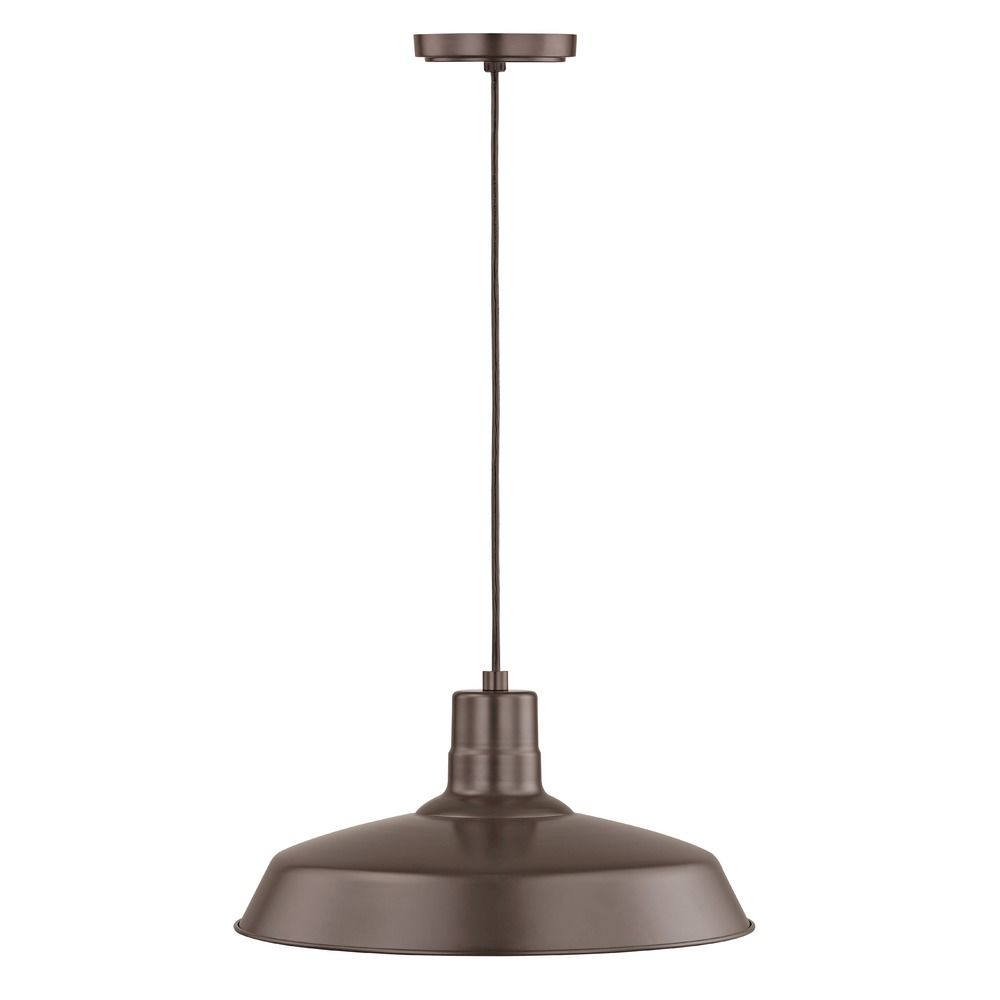 Barn light cord hung pendant light bronze with 16 inch shade bl barn light cord hung pendant light bronze with 16 inch shade alt2 arubaitofo Image collections