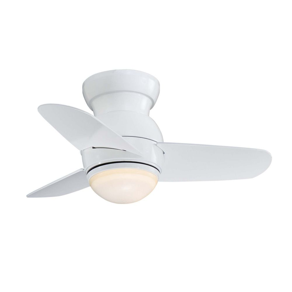 Modern ceiling fan with light with white glass f510 wh destination lighting - Modern white ceiling fan ...