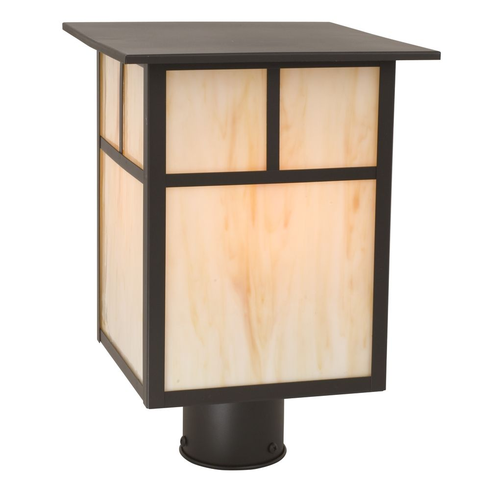 Outdoor Lamp Post Amazon: Craftsman Style Outdoor Post Light 13-Inches Tall