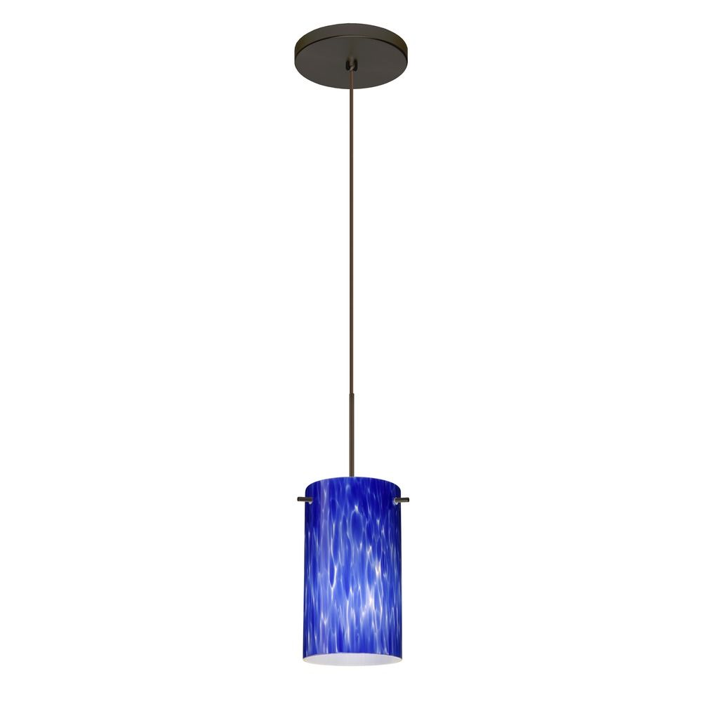besa lighting stilo 7 bronze mini pendant light with cylindrical shade