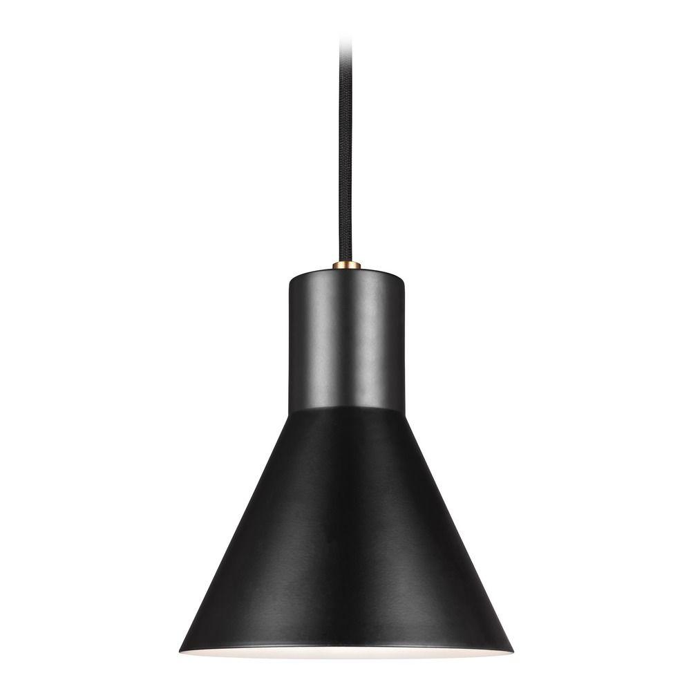 Mid Century Modern Lighting: Mid-Century Modern Mini-Pendant Light Bronze Towner By Sea